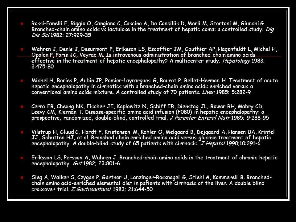 Rossi-Fanelli F, Riggio O, Cangiano C, Cascino A, De Conciliis D, Merli M, Stortoni M, Giunchi G.