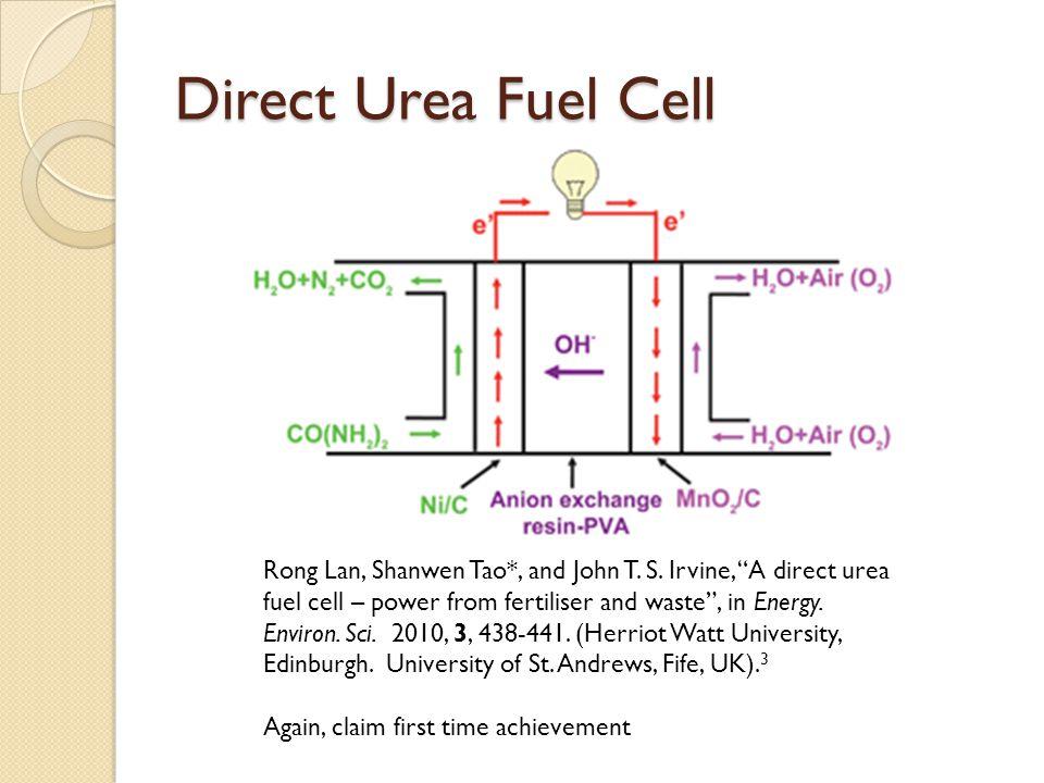 Direct Urea Fuel Cell Rong Lan, Shanwen Tao*, and John T.
