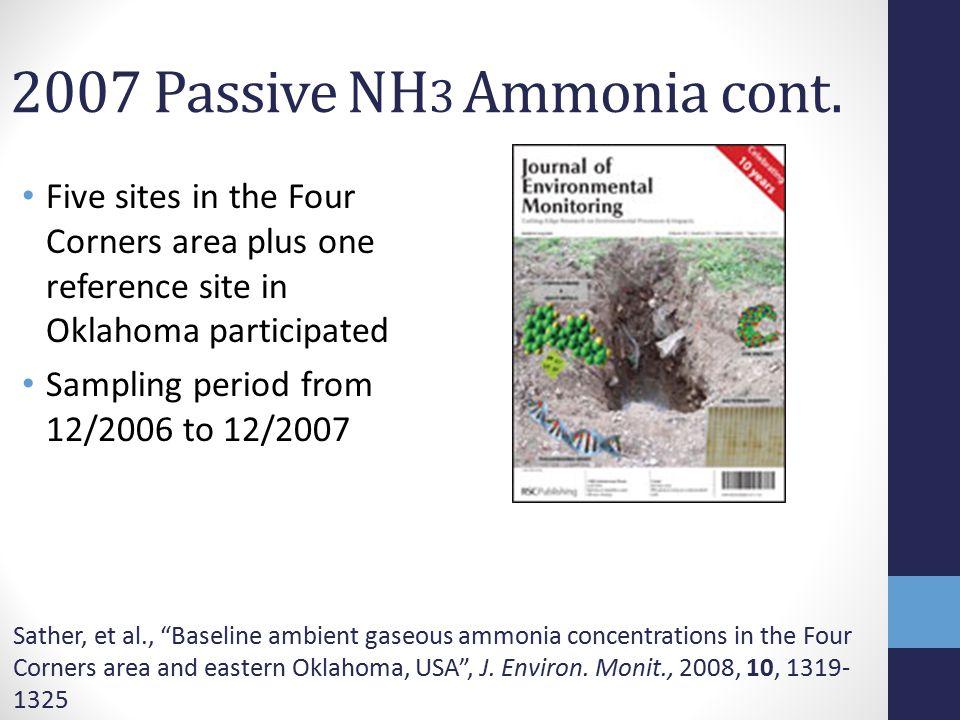 2007 Passive NH 3 Ammonia cont.