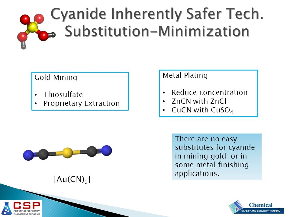 Cyanide Inherently Safer Tech.