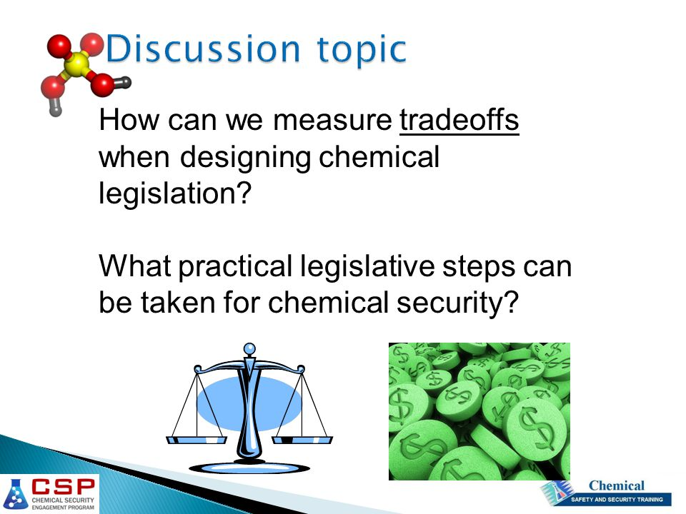 How can we measure tradeoffs when designing chemical legislation.