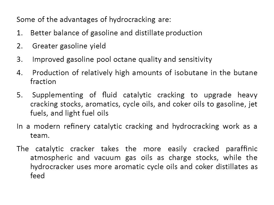 The effects of these are as follows:  Reactor Temperature Reactor temperature is the primary means of conversion control.