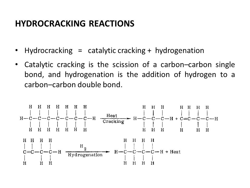 Cracking and hydrogenation are complementary, for cracking provides olefins for hydrogenation, while hydrogenation in turn provides heat for cracking.