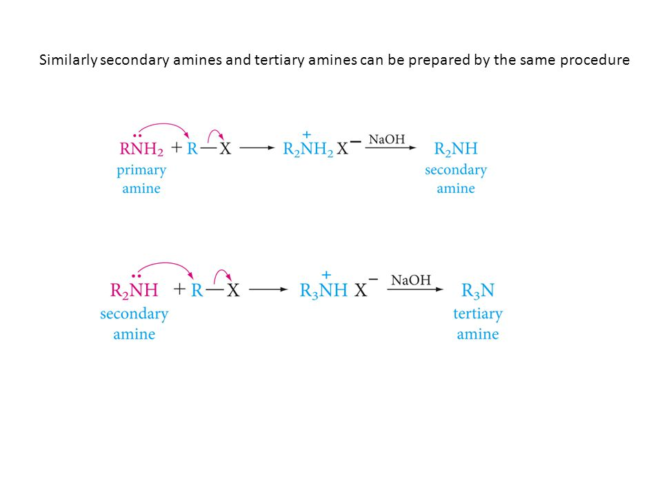 Similarly secondary amines and tertiary amines can be prepared by the same procedure