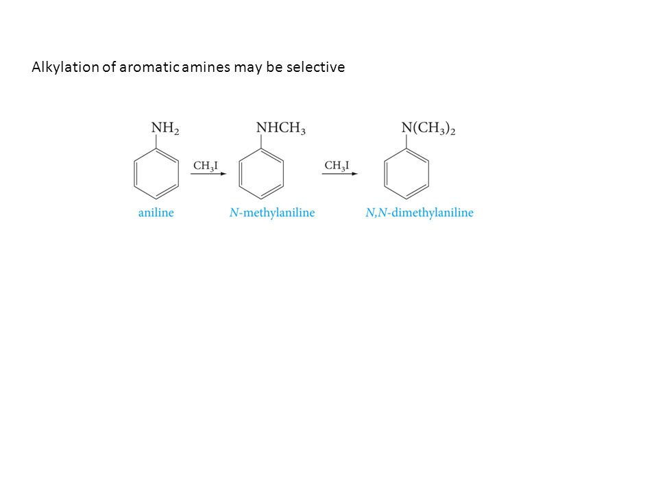 Alkylation of aromatic amines may be selective