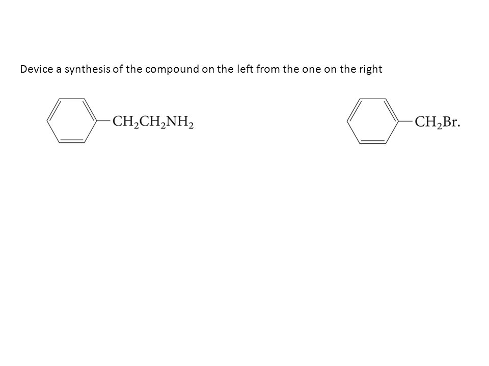 Device a synthesis of the compound on the left from the one on the right