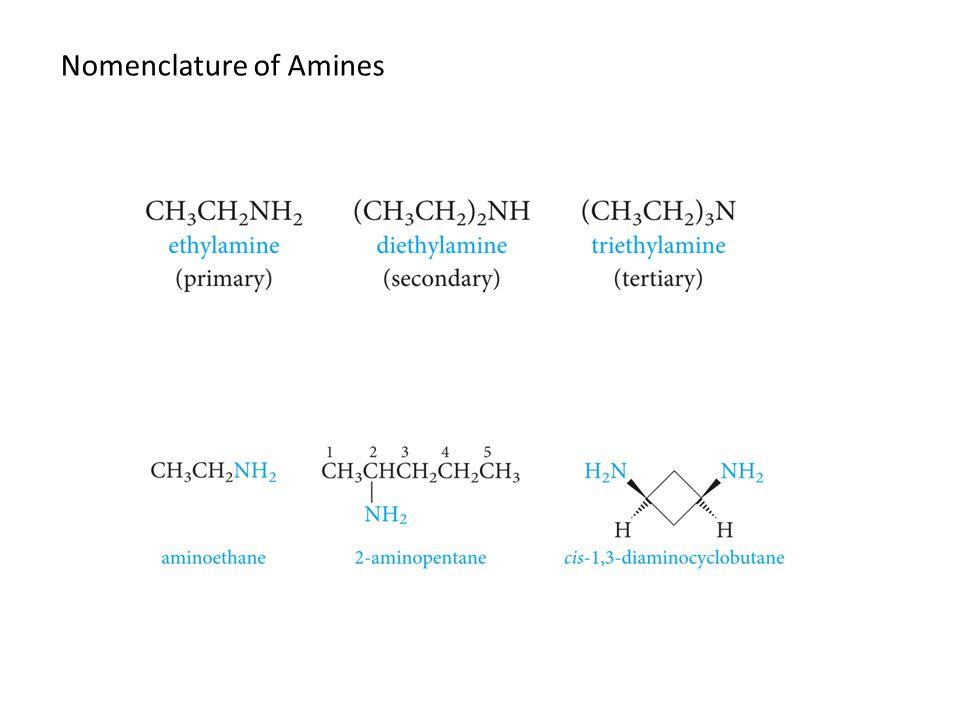 Nomenclature of Amines