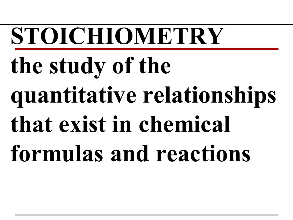 MOLE RATIOS IN CHEMICAL EQUATIONS