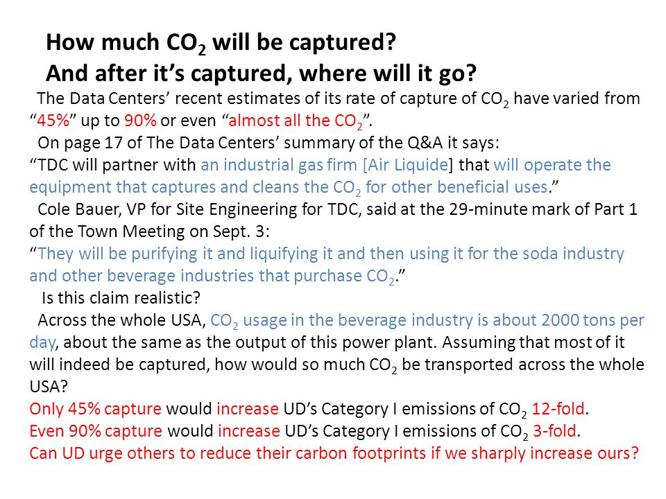 How much CO 2 will be captured. And after it's captured, where will it go.
