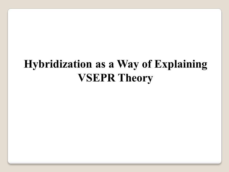 Hybridization as a Way of Explaining VSEPR Theory