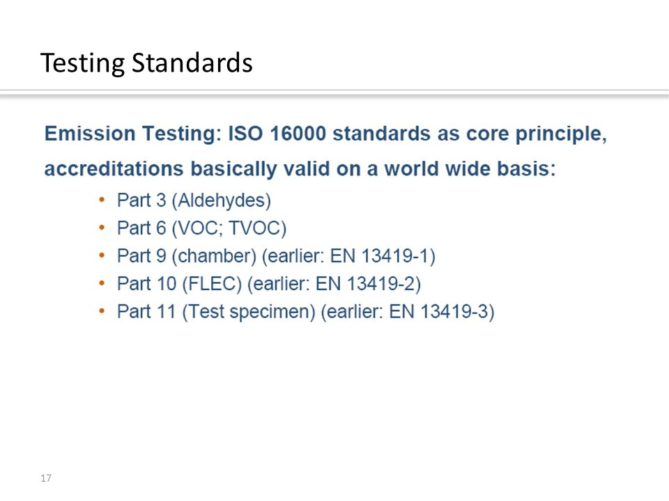 17 Testing Standards
