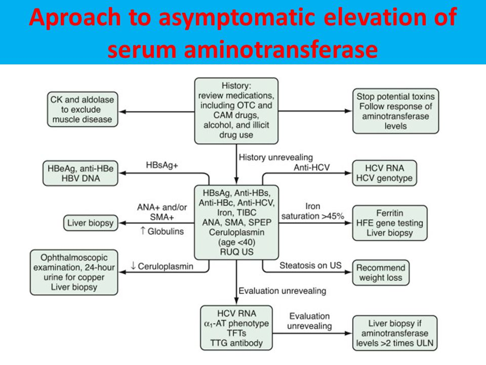 Aproach to asymptomatic elevation of serum aminotransferase