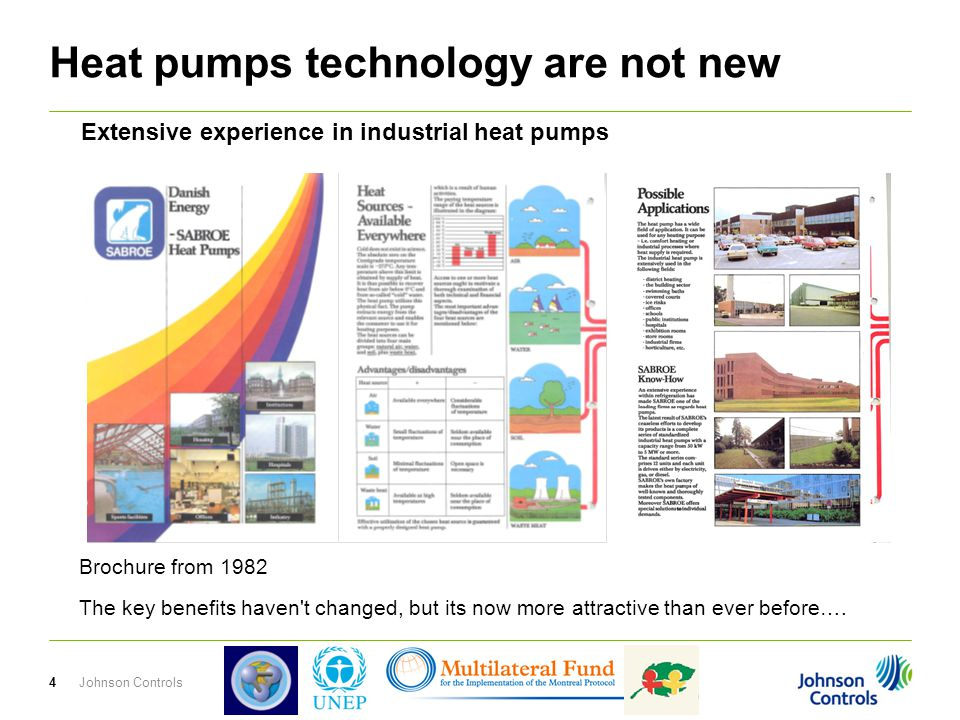 Heat pumps technology are not new 4Johnson Controls Brochure from 1982 The key benefits haven t changed, but its now more attractive than ever before….
