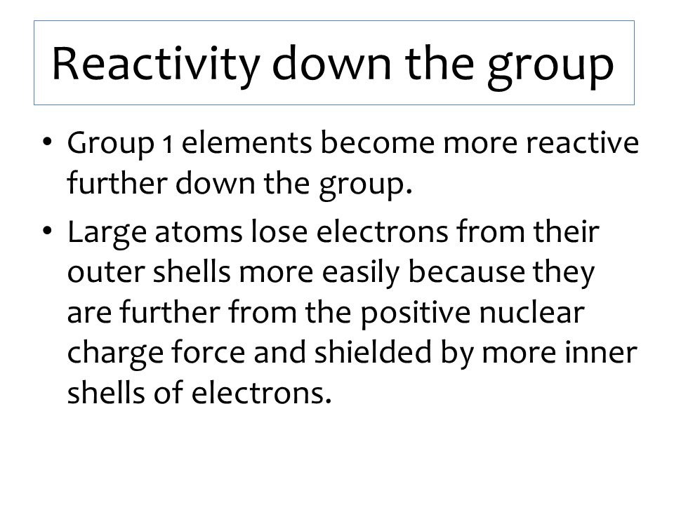 Group 7 – The Halogens Elements in Group 7 (The Halogens) are coloured non-metals.