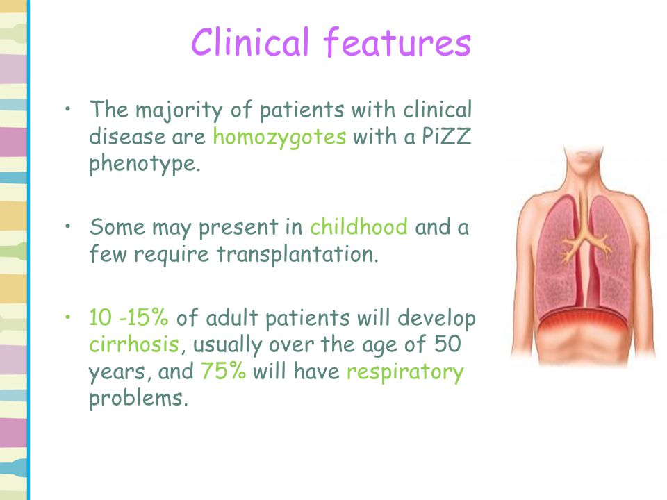 Clinical features Approximately 5% of patients die of their liver disease.