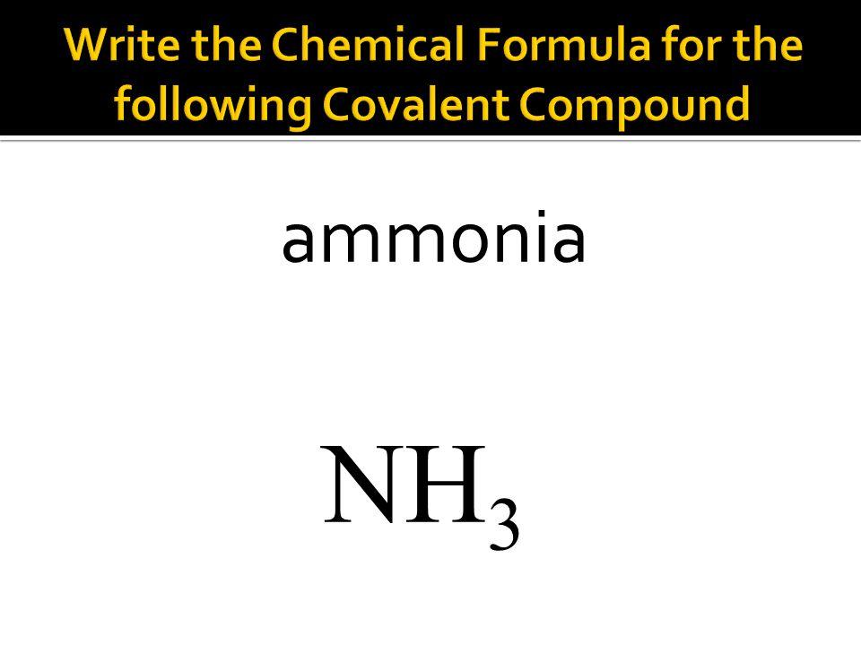 NH 3 ammonia