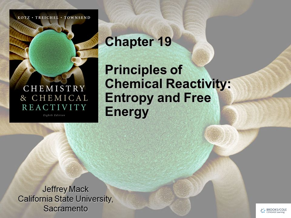 Jeffrey Mack California State University, Sacramento Chapter 19 Principles of Chemical Reactivity: Entropy and Free Energy