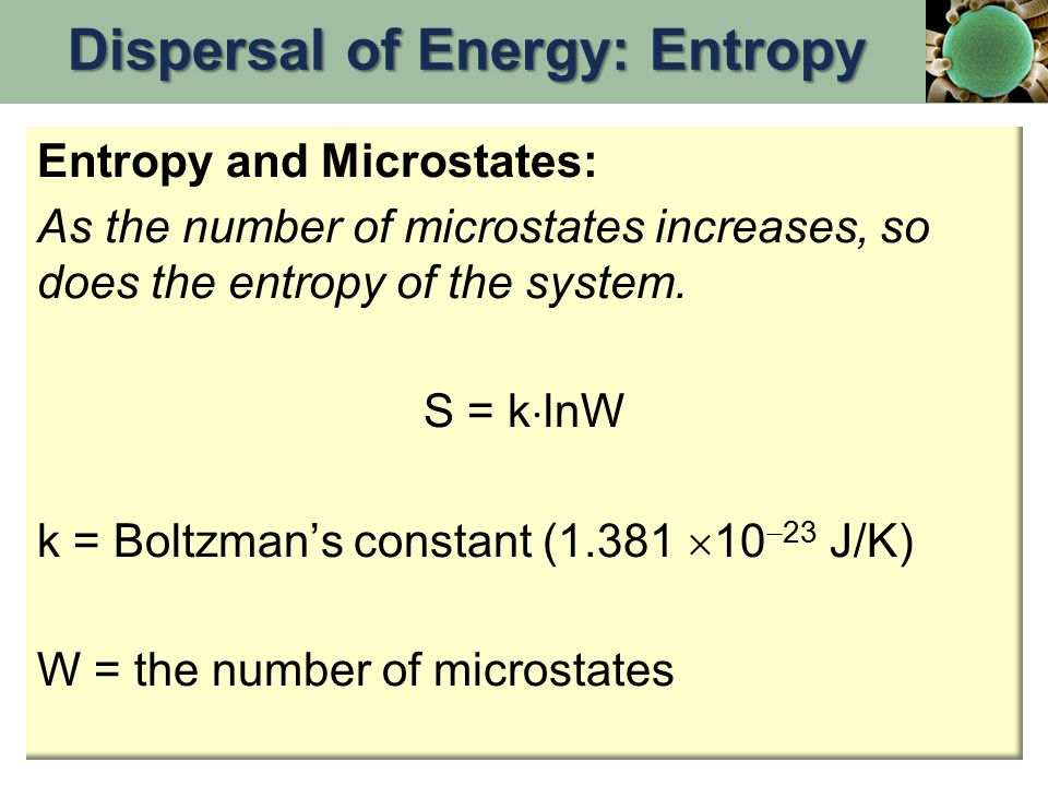 Entropy and Microstates: As the number of microstates increases, so does the entropy of the system.