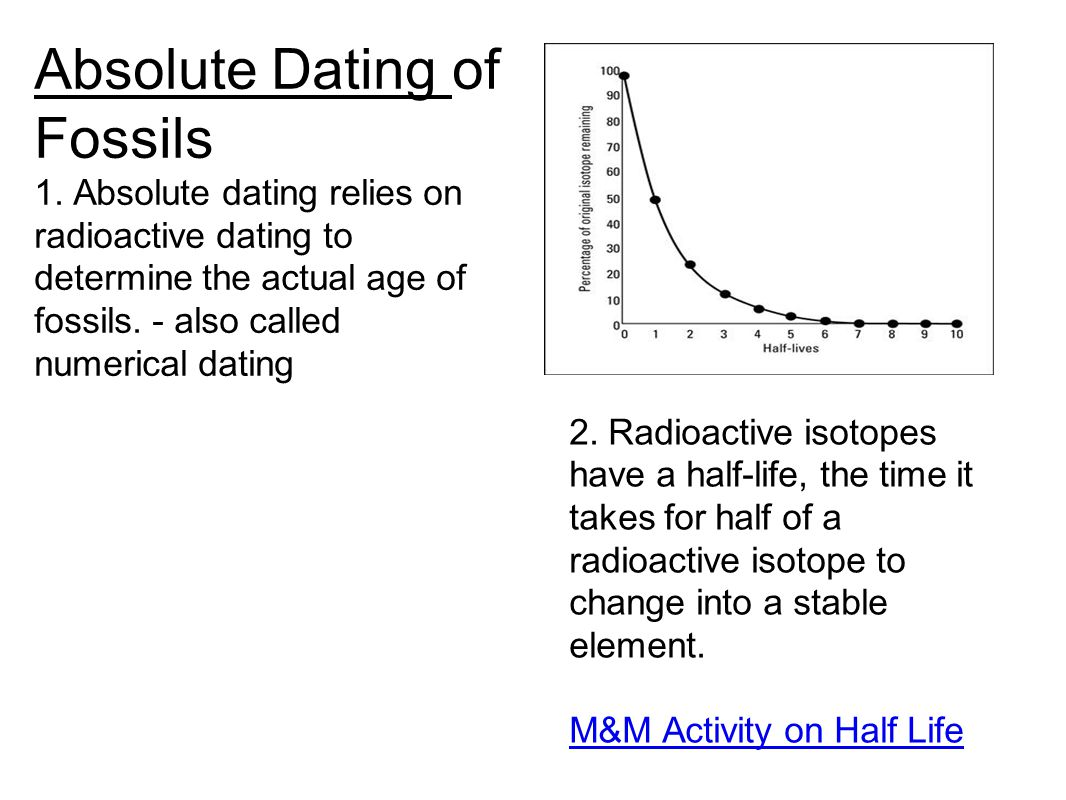 Absolute Dating of Fossils 1.