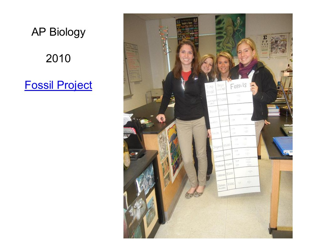 AP Biology 2010 Fossil Project