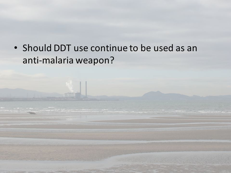Should DDT use continue to be used as an anti-malaria weapon?