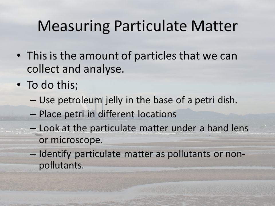 Measuring Soil Characteristics pH levels Determine the levels of Ph, K, Ca.