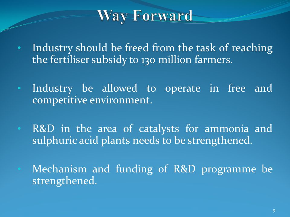 Industry should be freed from the task of reaching the fertiliser subsidy to 130 million farmers.