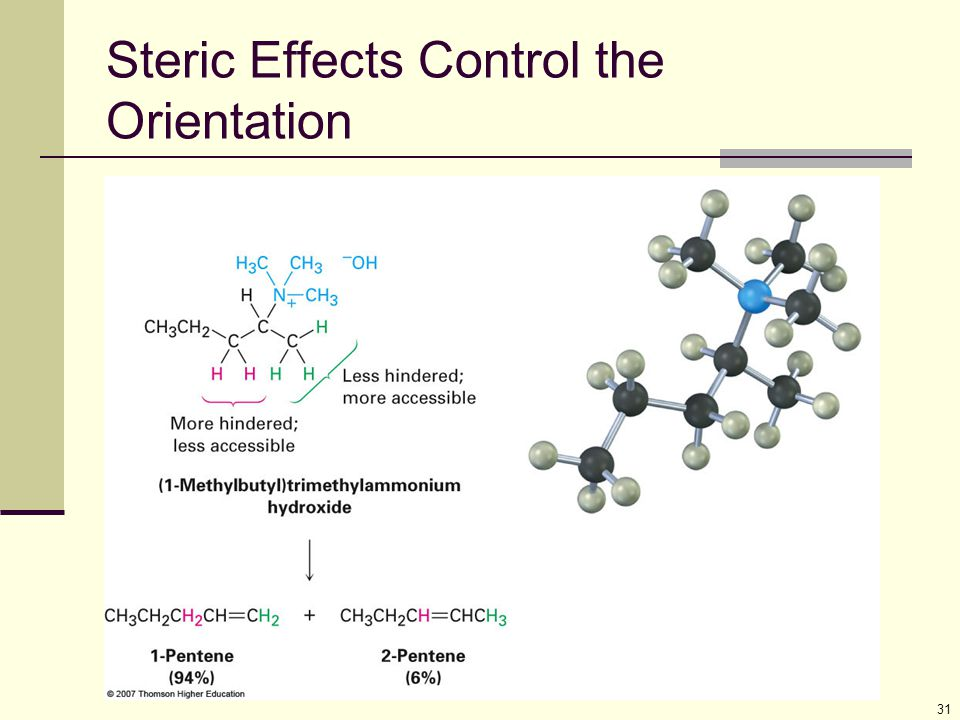 31 Steric Effects Control the Orientation