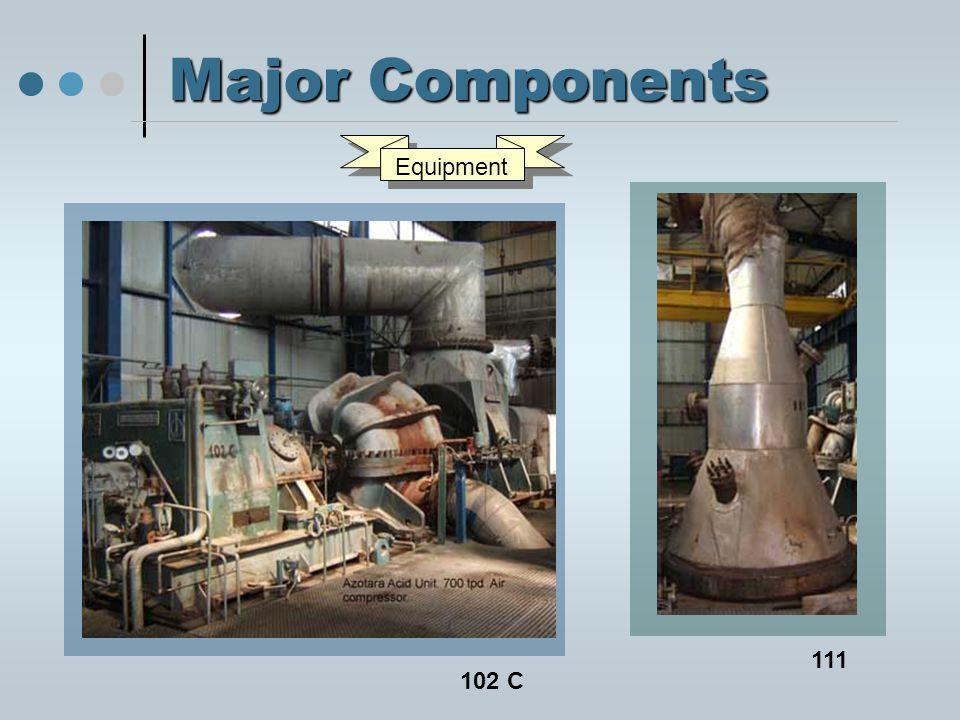 Major Components 102 C 111 Equipment
