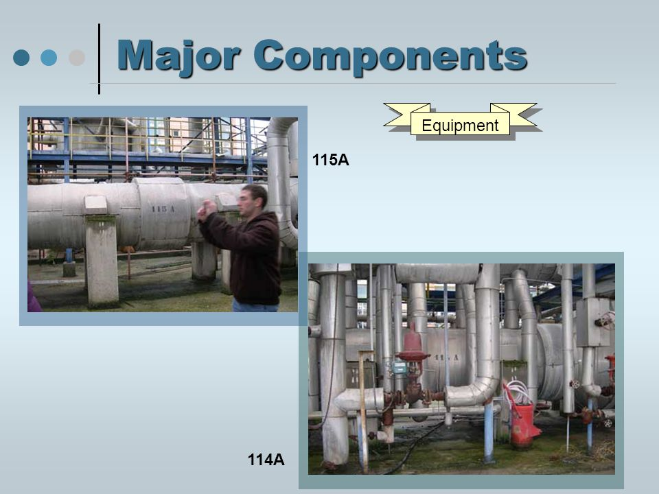 Major Components 115A 114A Equipment