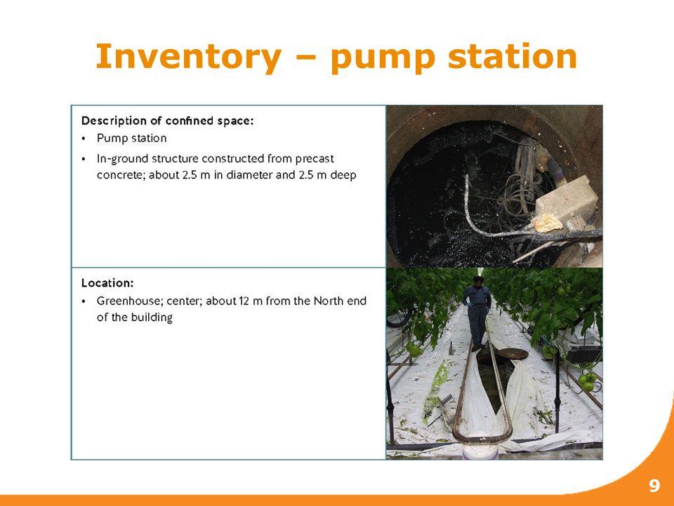 Inventory – pump station 9
