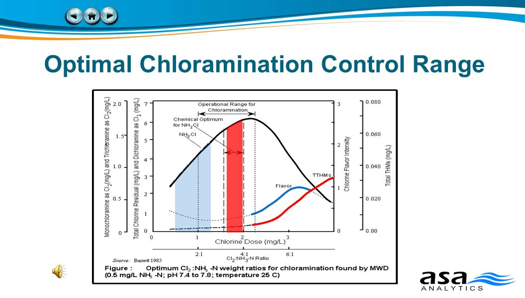 Optimal Chloramination Control Range