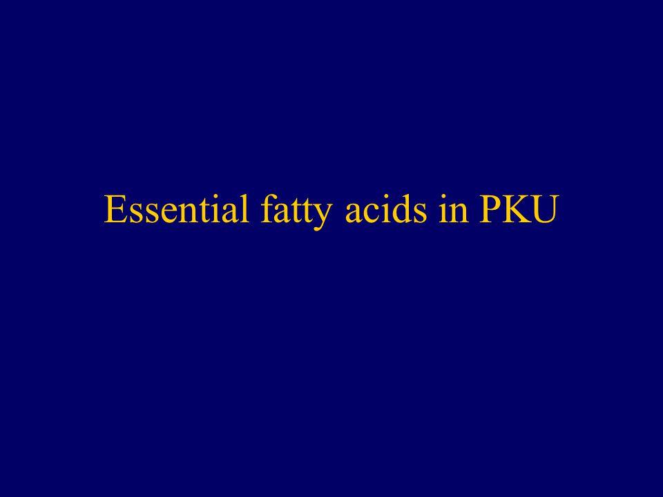 Essential fatty acids in PKU