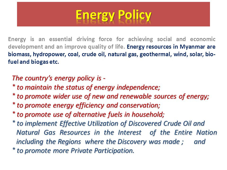 Energy is an essential driving force for achieving social and economic development and an improve quality of life.