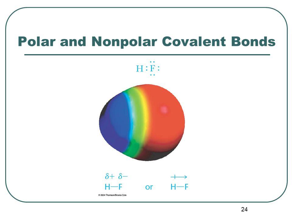 24 Polar and Nonpolar Covalent Bonds