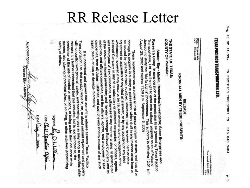 RR Release Letter