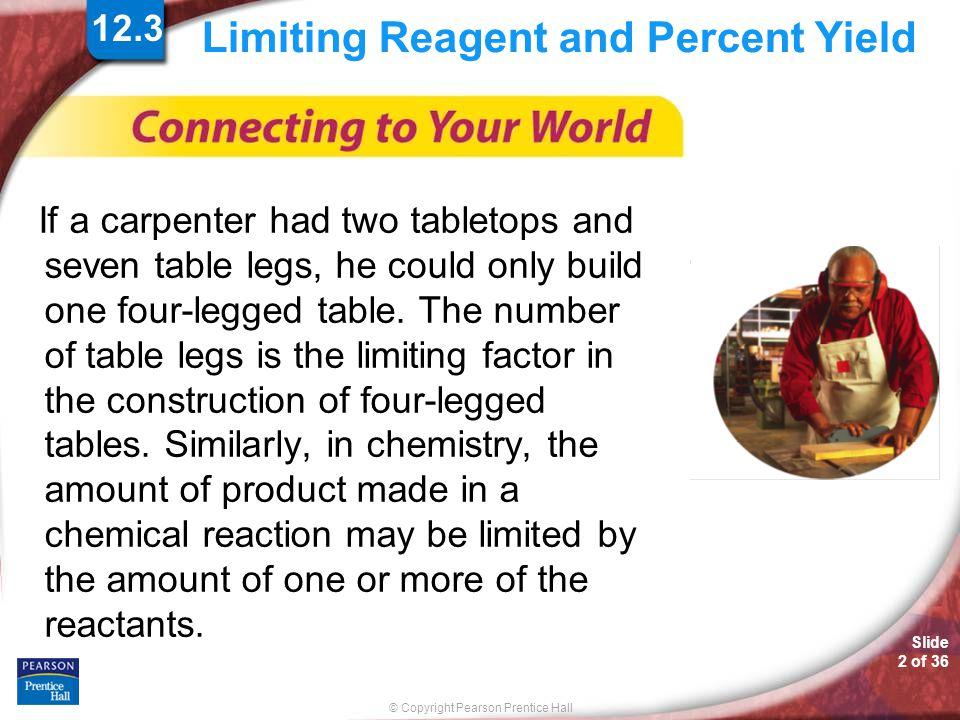 © Copyright Pearson Prentice Hall SAMPLE PROBLEM Slide 13 of 36 12.8