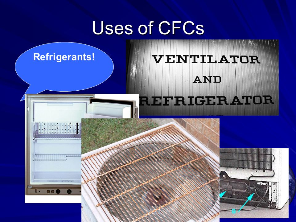 Uses of CFCs Refrigerants!