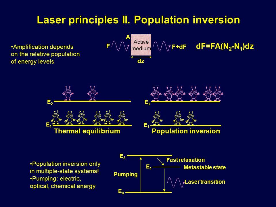 Laser principles II.
