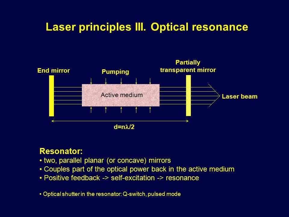 Laser principles III.