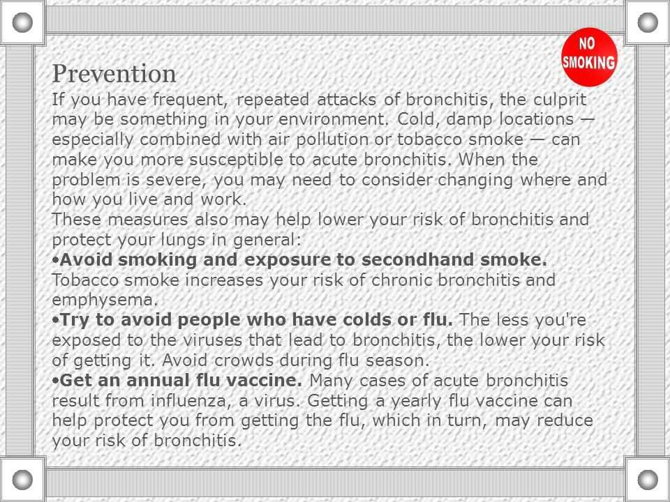 Alternative medicine Some people believe that some herbal remedies offer relief from acute bronchitis.