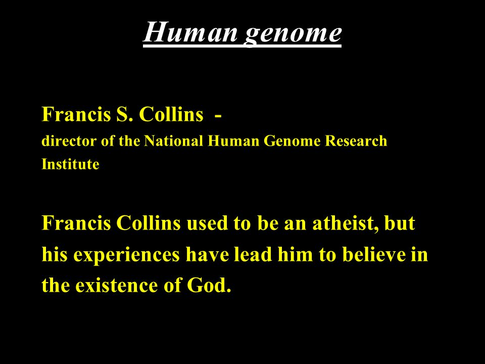 Human genome Francis S.
