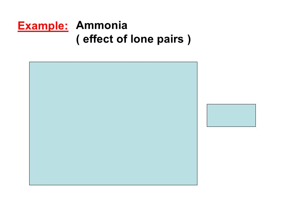 Ammonia ( effect of lone pairs )    0 Example: