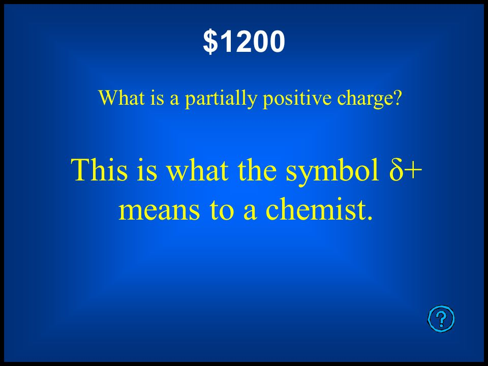 $800 What is a molecule or molecular center in which all the surrounding atoms have about the same electronegativity.