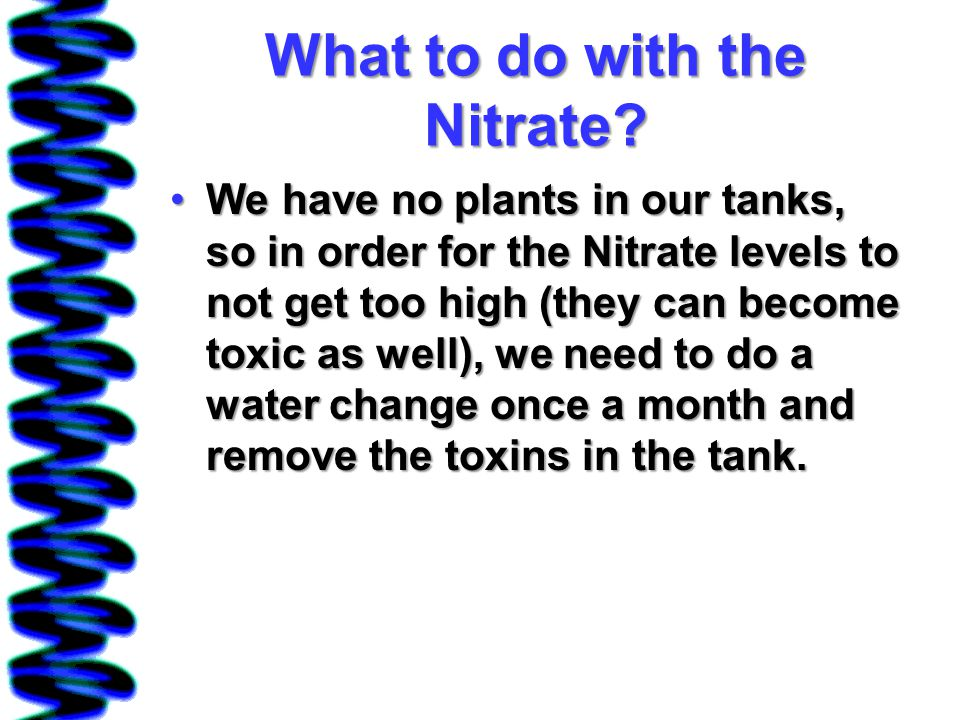 What to do with the Nitrate.