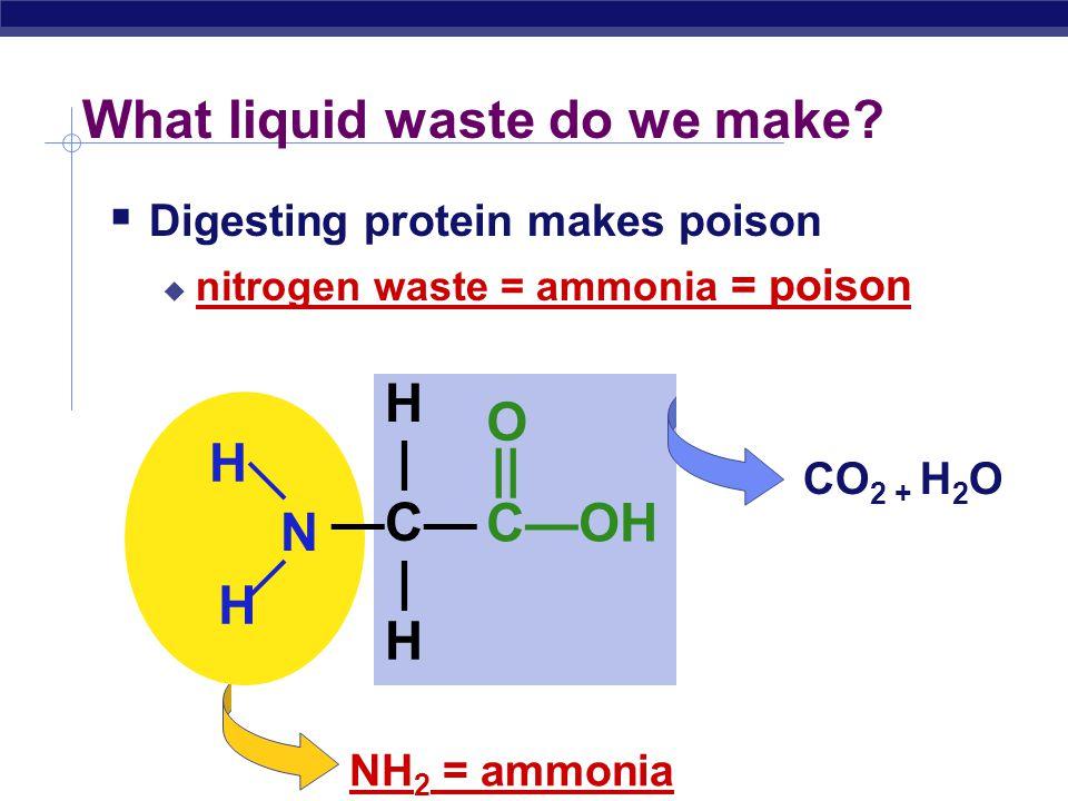 Regents Biology What liquid waste do we make.