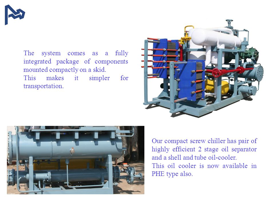 The system comes as a fully integrated package of components mounted compactly on a skid.