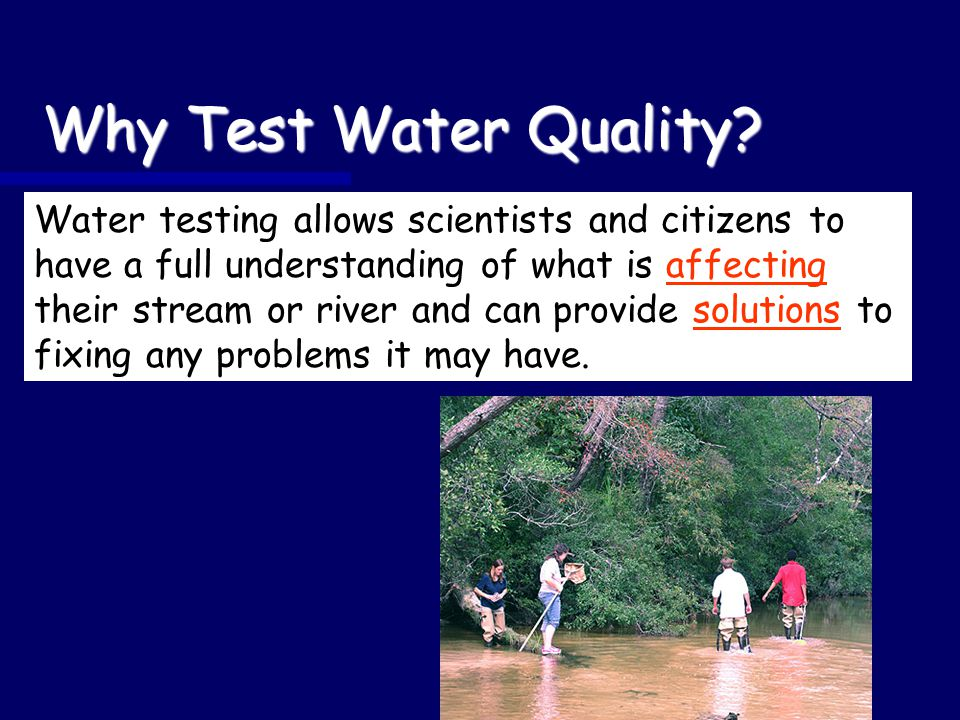 Why Test Water Quality.