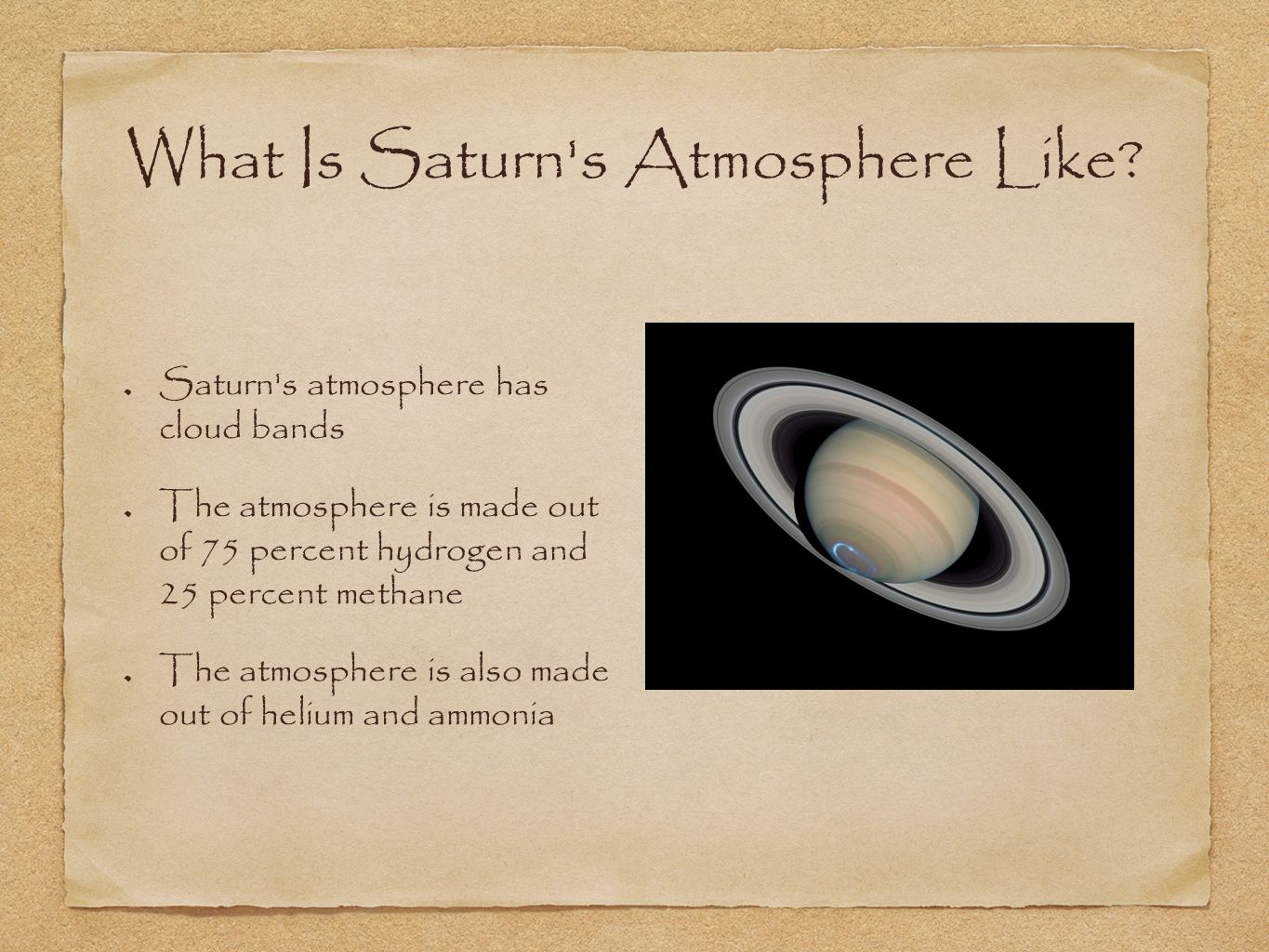 What Is Saturn s Atmosphere Like.