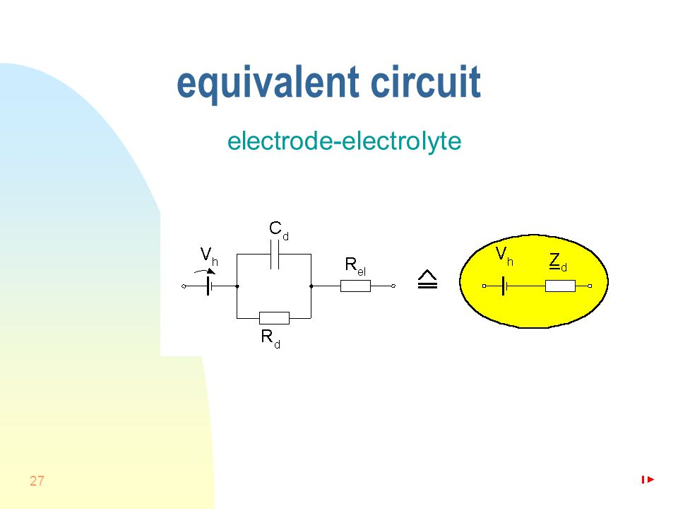 27 equivalent circuit electrode-electrolyte